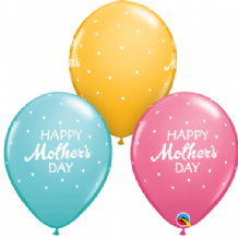 Mothers Day Petite Dots - 11 Inch Balloons 25pcs